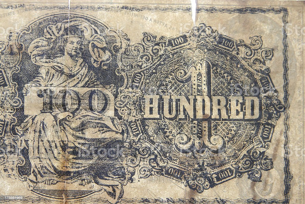 Old Confederate Currency stock photo