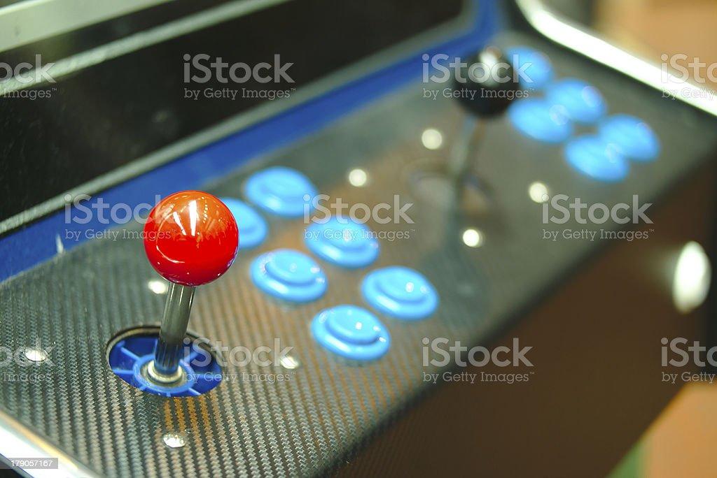 Old console joysticks. stock photo