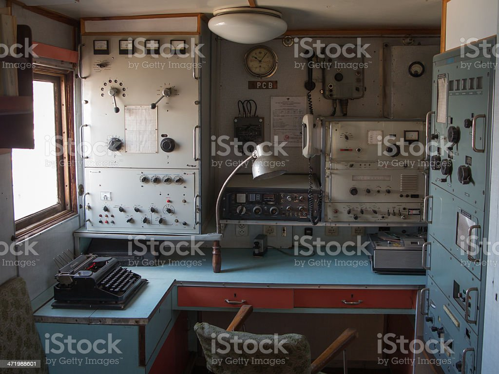 Old control room stock photo