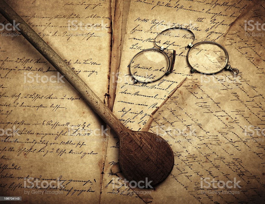 Old cooking book royalty-free stock photo
