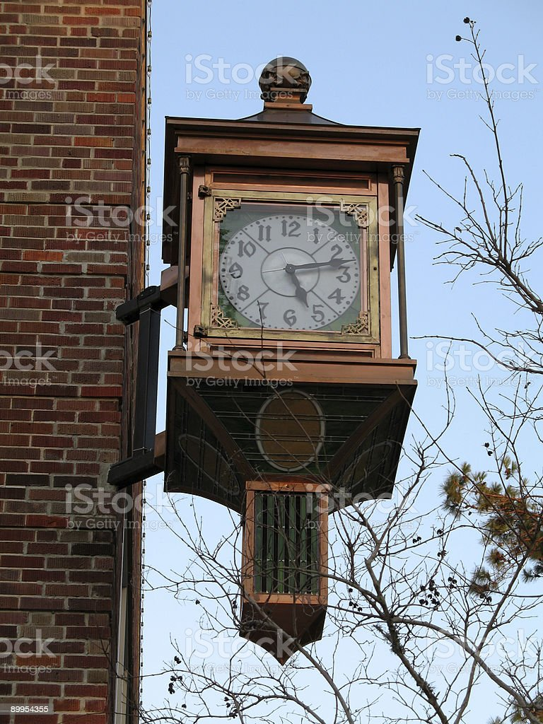 Old Copper Clock royalty-free stock photo