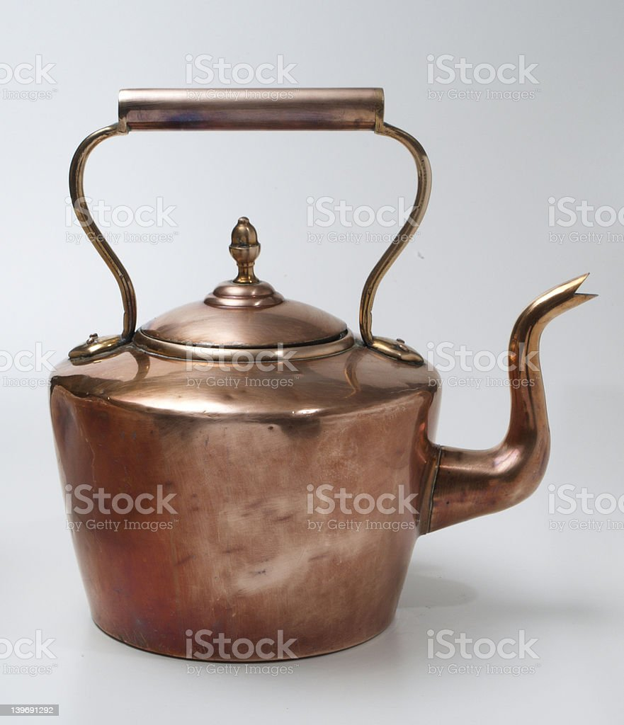 Old Copper Kettle royalty-free stock photo