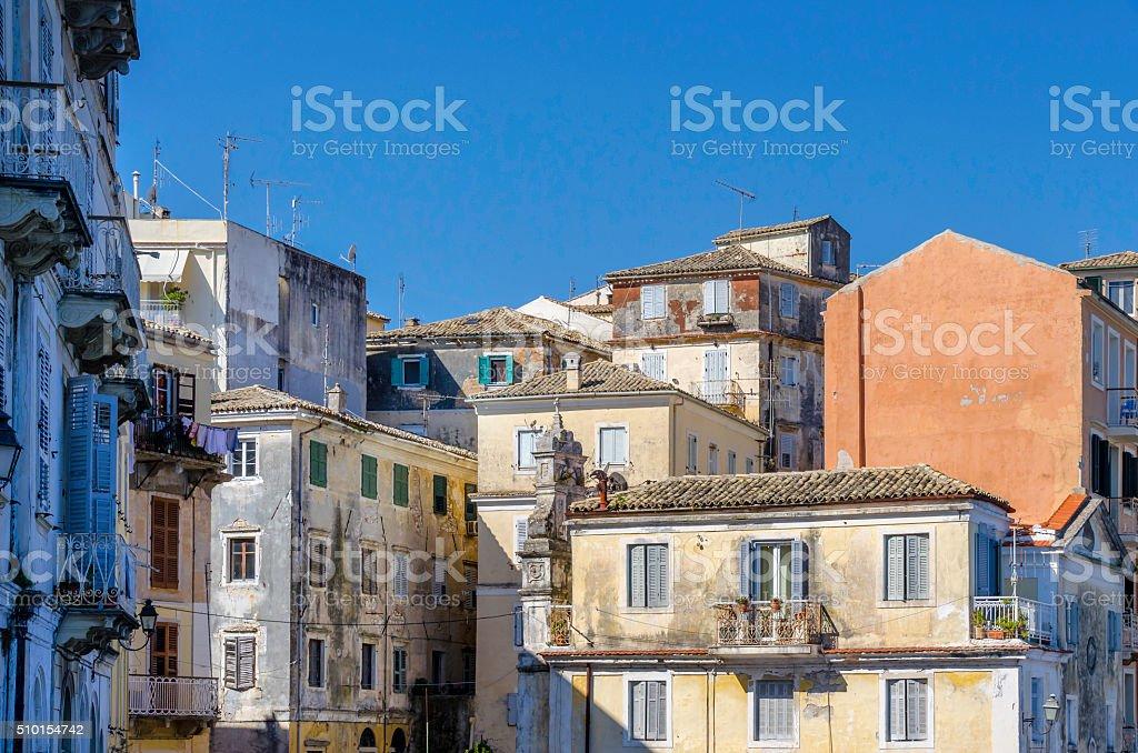 Old Corfu Town stock photo