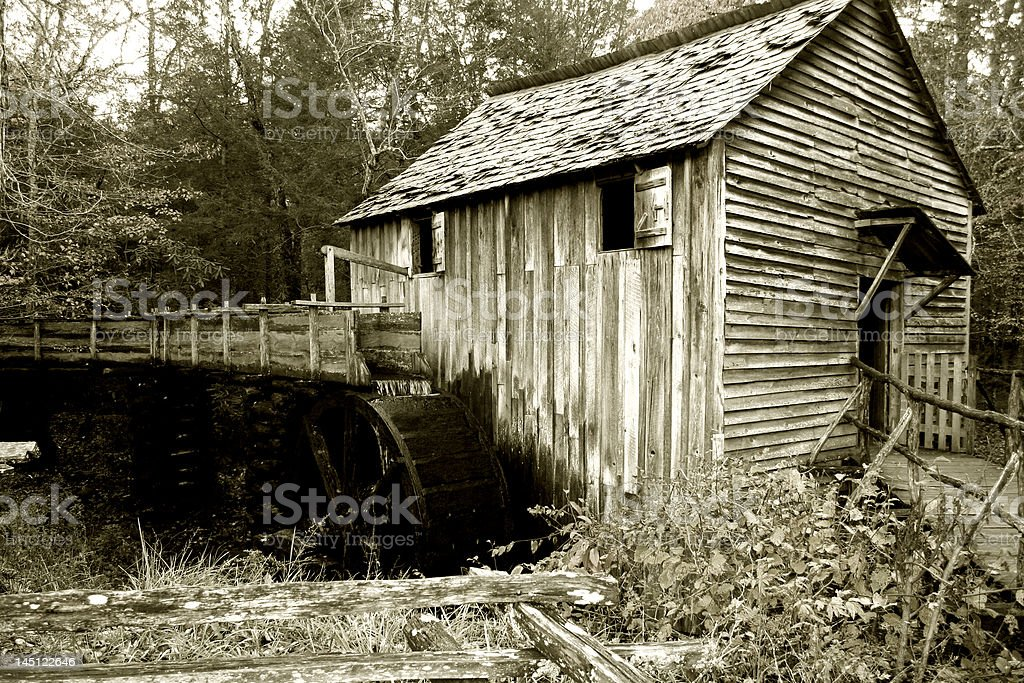 Old Corn Mill stock photo