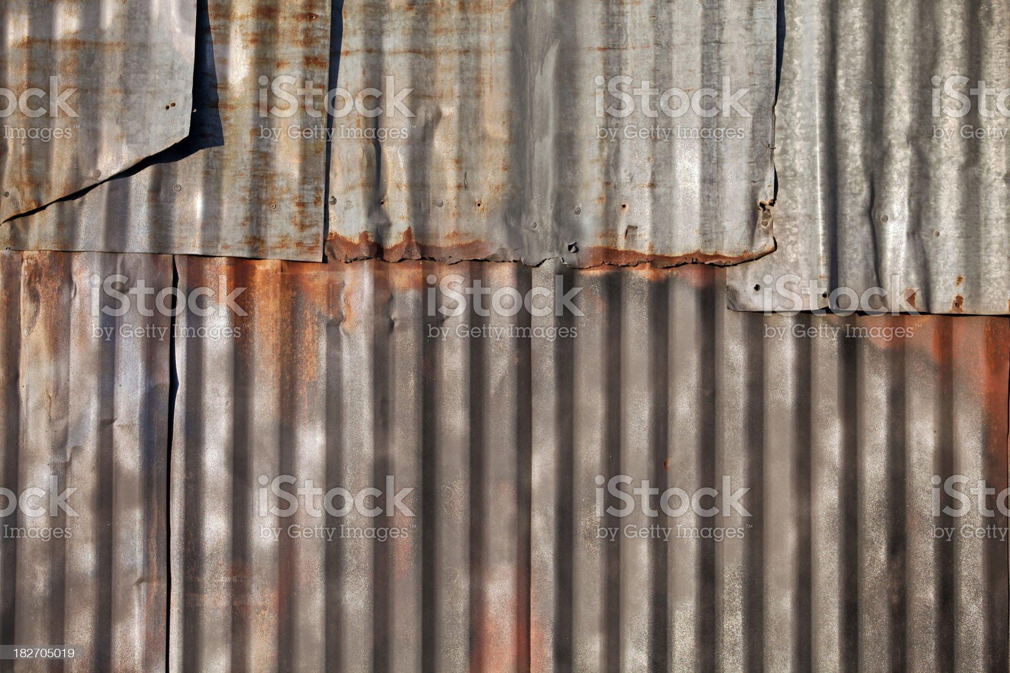 Old Corrugated Steel Siding royalty-free stock photo