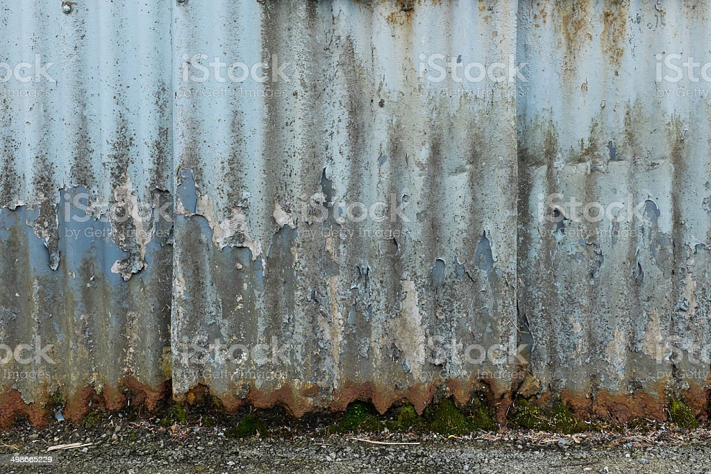 Old Corrugated Wall Background royalty-free stock photo