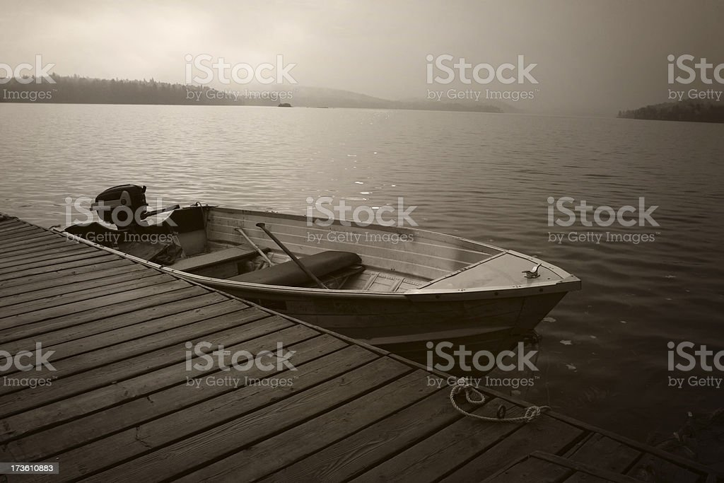Old Cottage Boat royalty-free stock photo