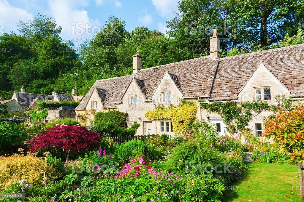 old cottage in Bibury, England stock photo