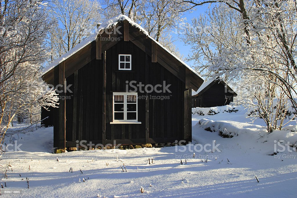 Old cottage. royalty-free stock photo