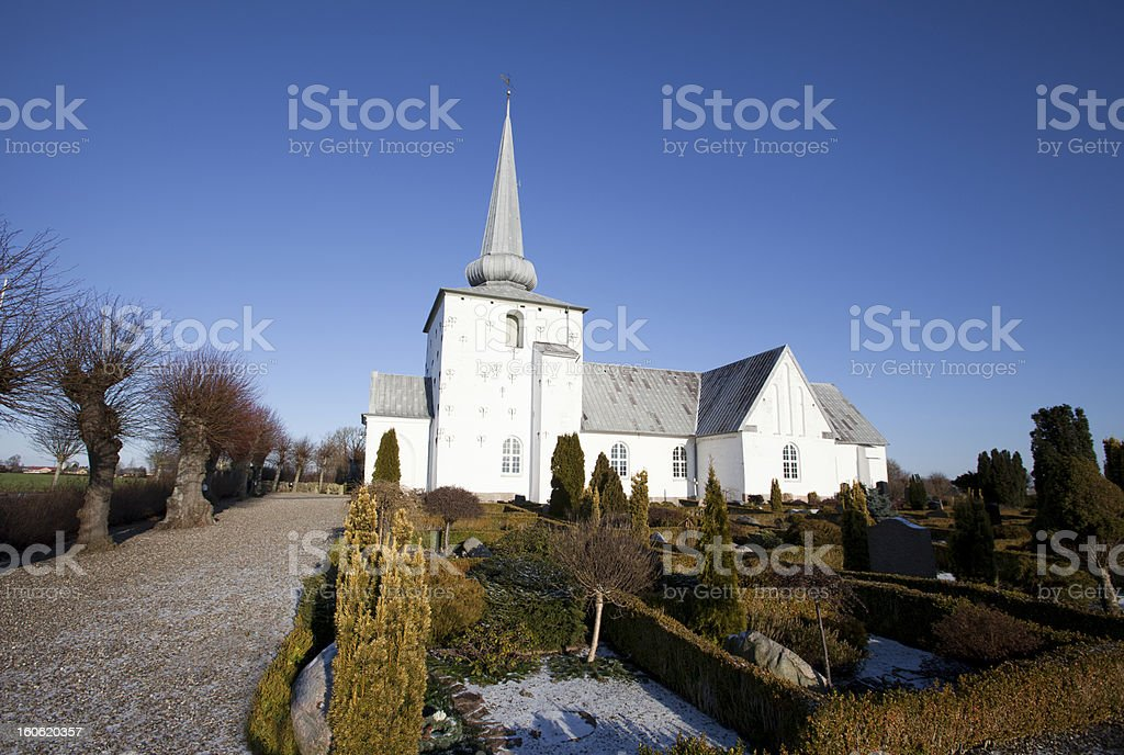 Old counrty Church royalty-free stock photo