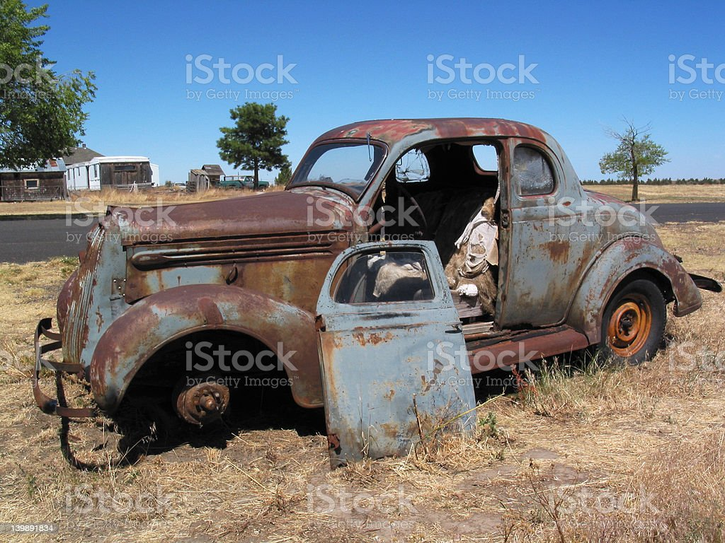 Old Coupe royalty-free stock photo