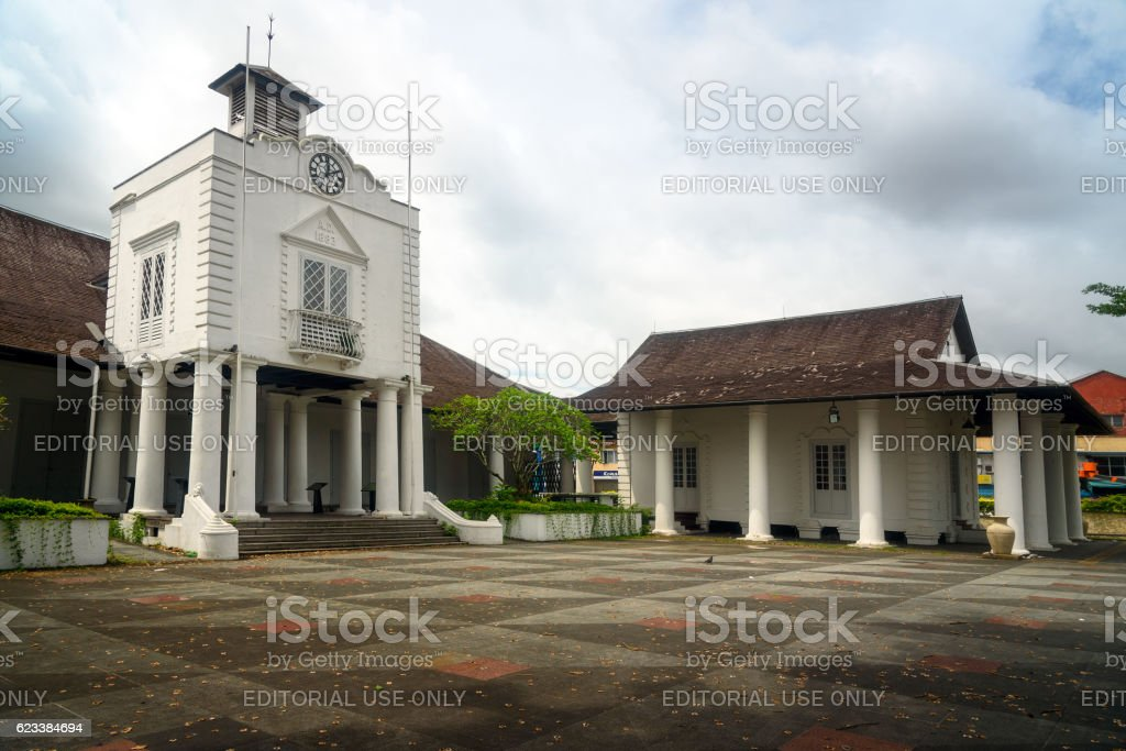 Old Court House building in Kuching stock photo