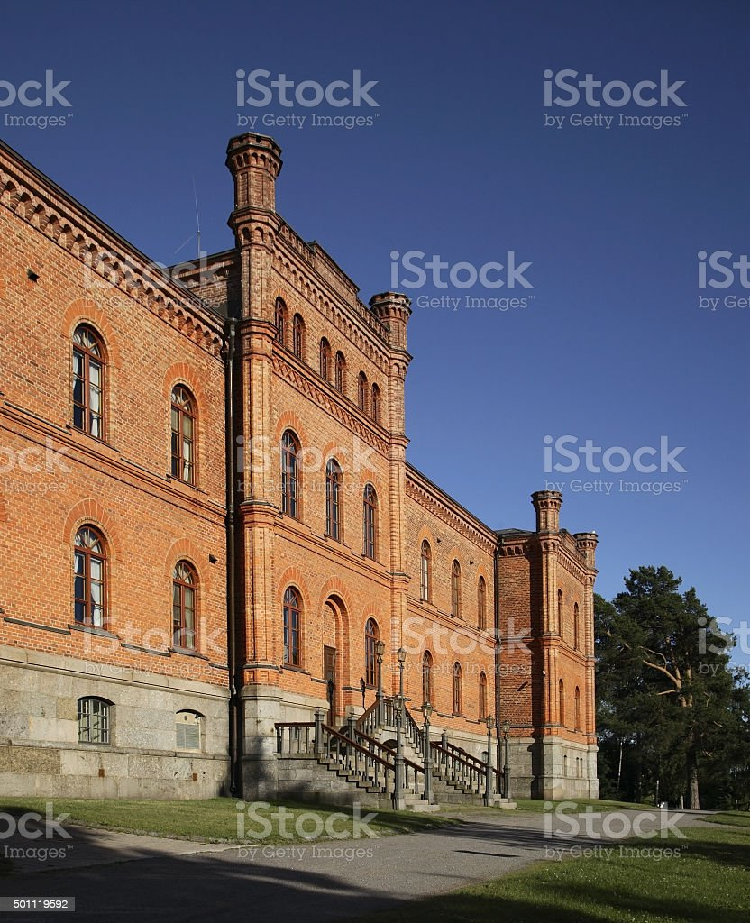 Old Court of Appeal in Vaasa. Finland stock photo