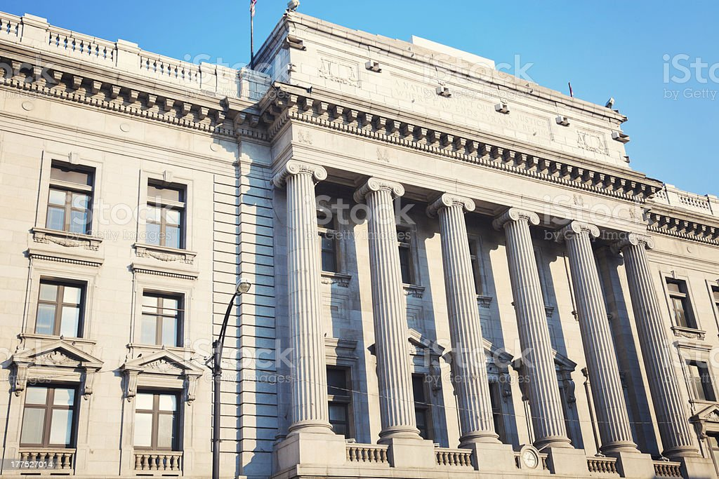 Old courthouse in Youngstown stock photo