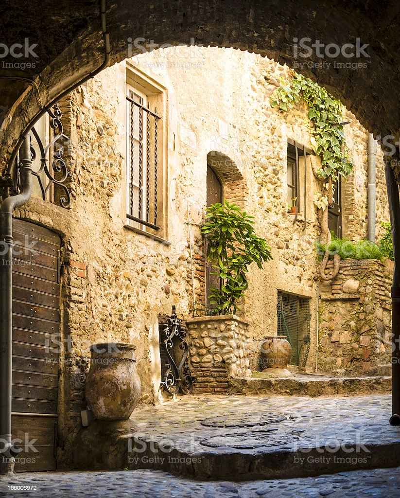 Old courtyard royalty-free stock photo