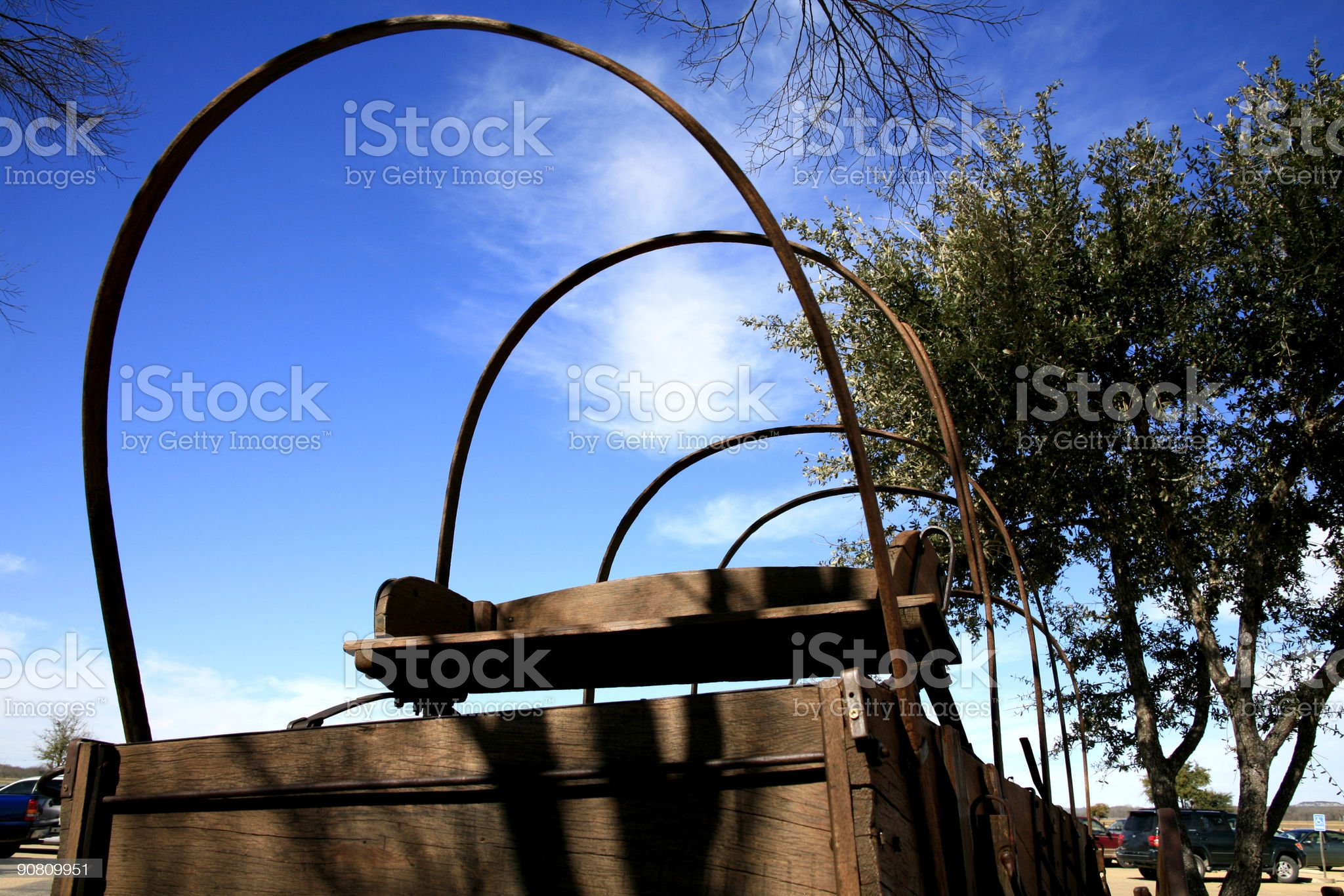 Old covered wagon royalty-free stock photo