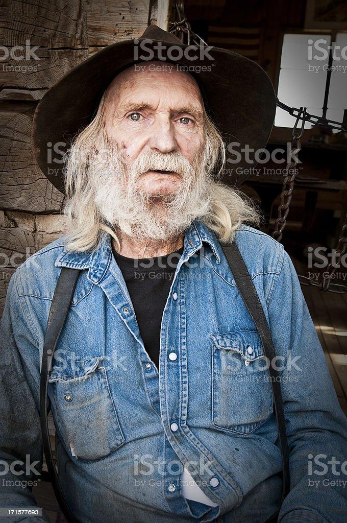 Old Cowboy royalty-free stock photo