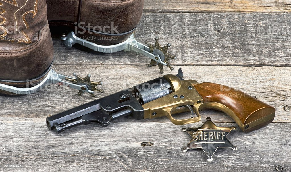 Old Cowboy Tools. stock photo