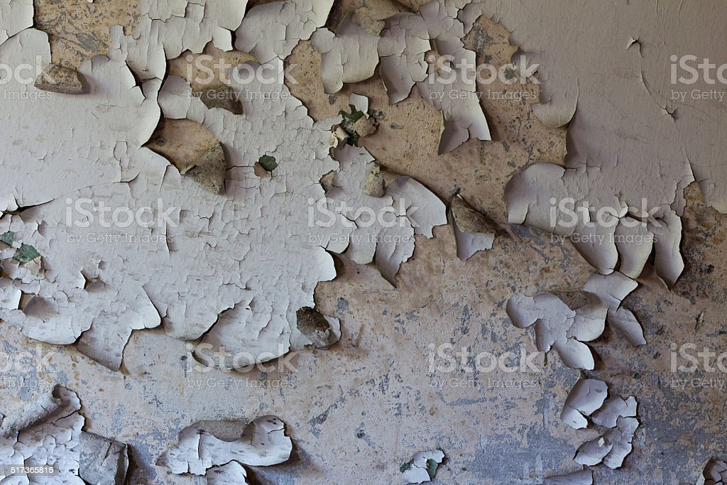 Old cracked and dilapidated wall of the building stock photo