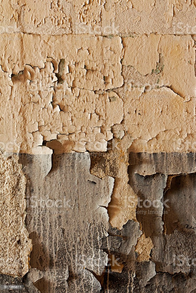 Old cracked and dilapidated wall stock photo