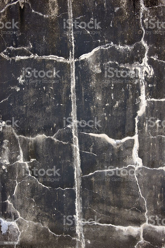 Old Cracked Cement Wall, Grunge royalty-free stock photo
