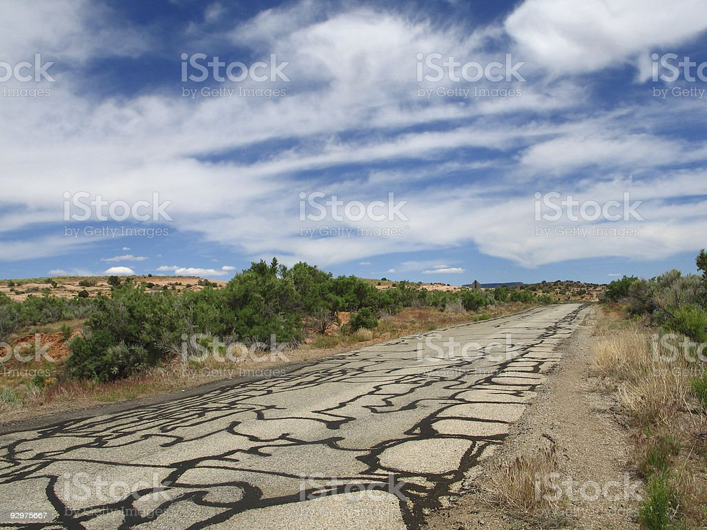Old Cracked Desert Road royalty-free stock photo