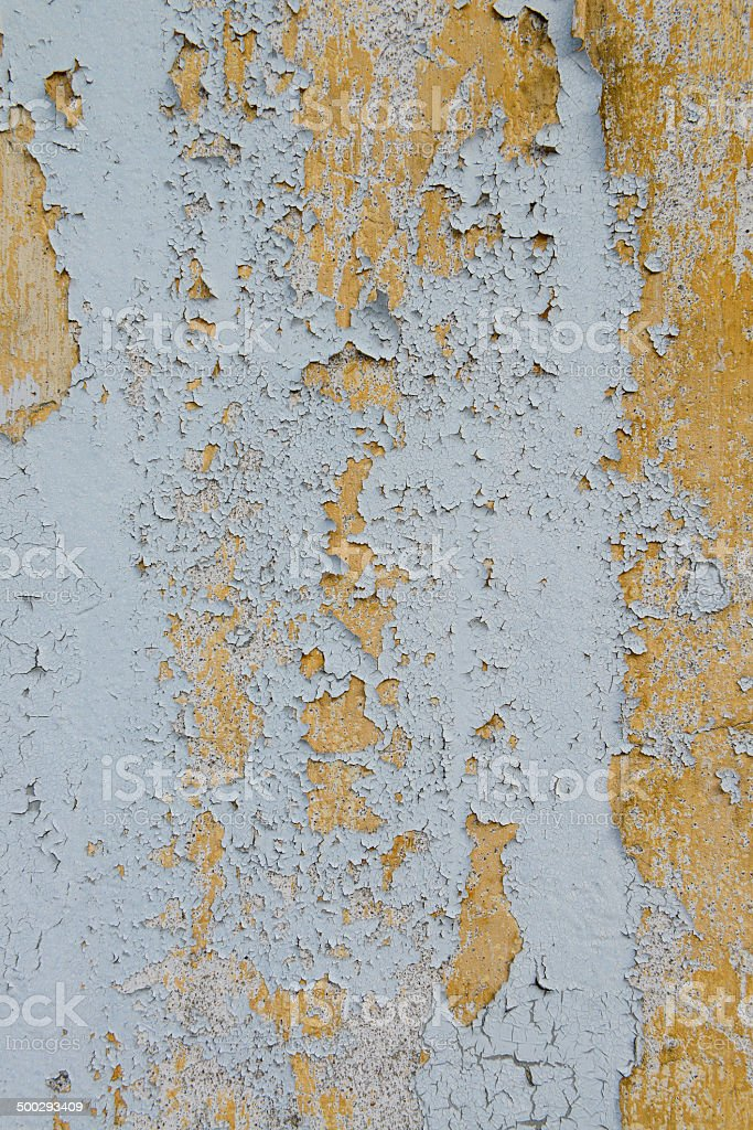 old cracked paint on the wall stock photo
