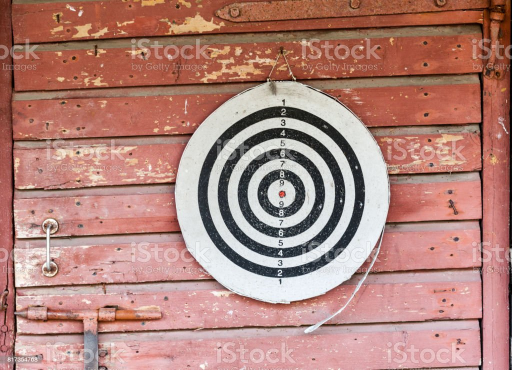 old cracked target stock photo