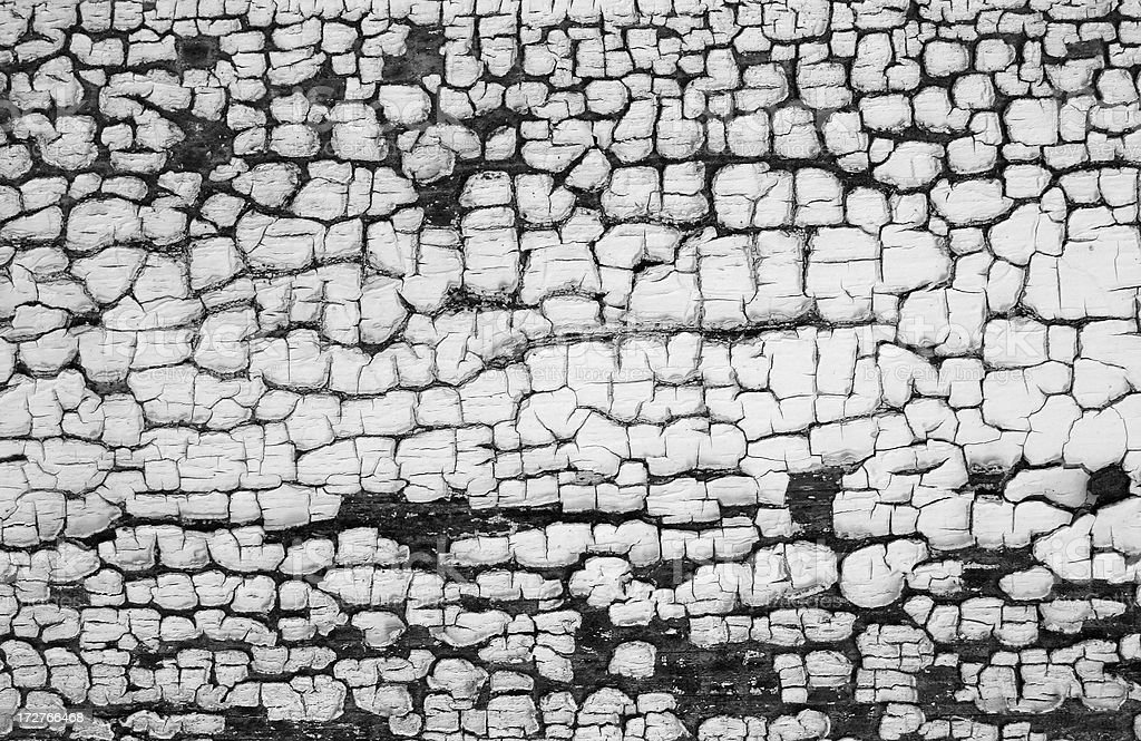 old crackling paint pattern Black and white stock photo