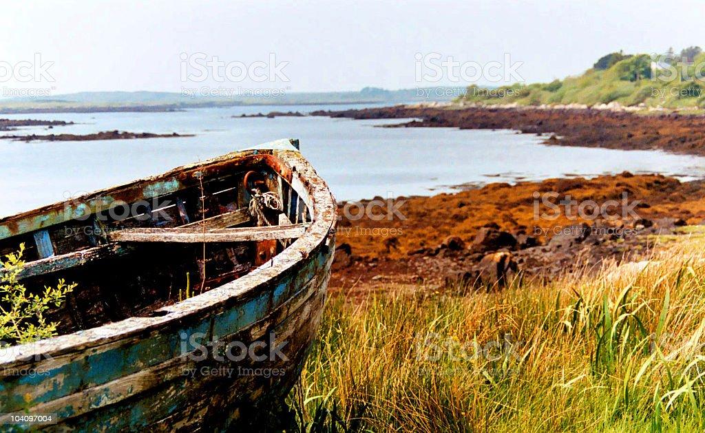 Old craft on Ireland seaside pic #1 - Connemara stock photo