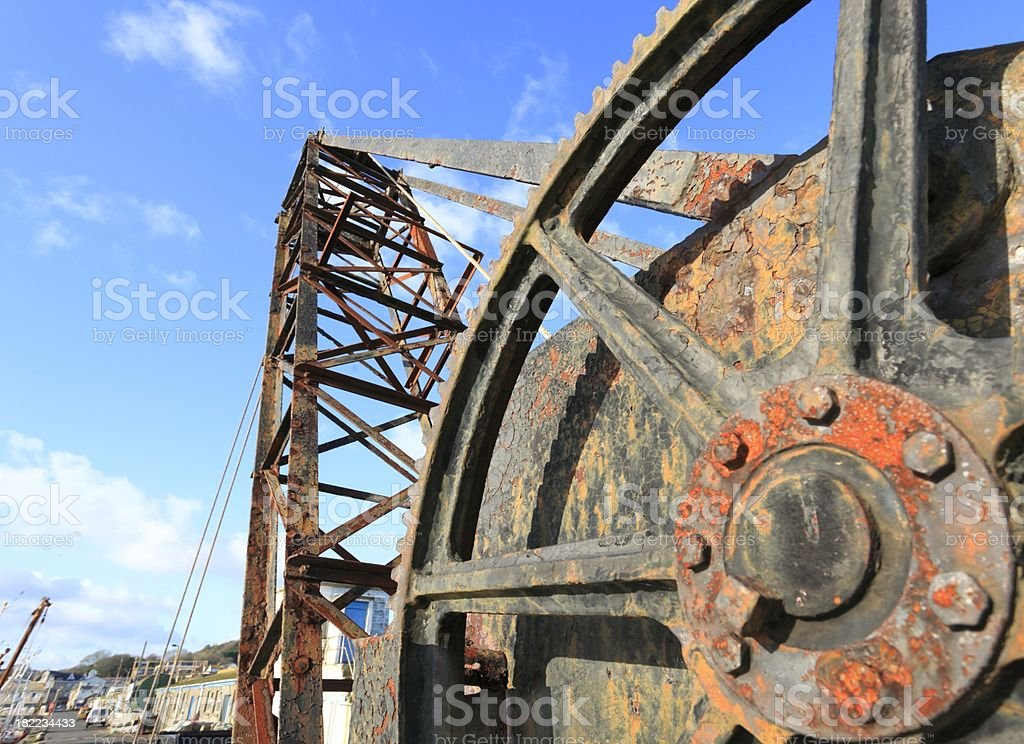 Old Crane. royalty-free stock photo