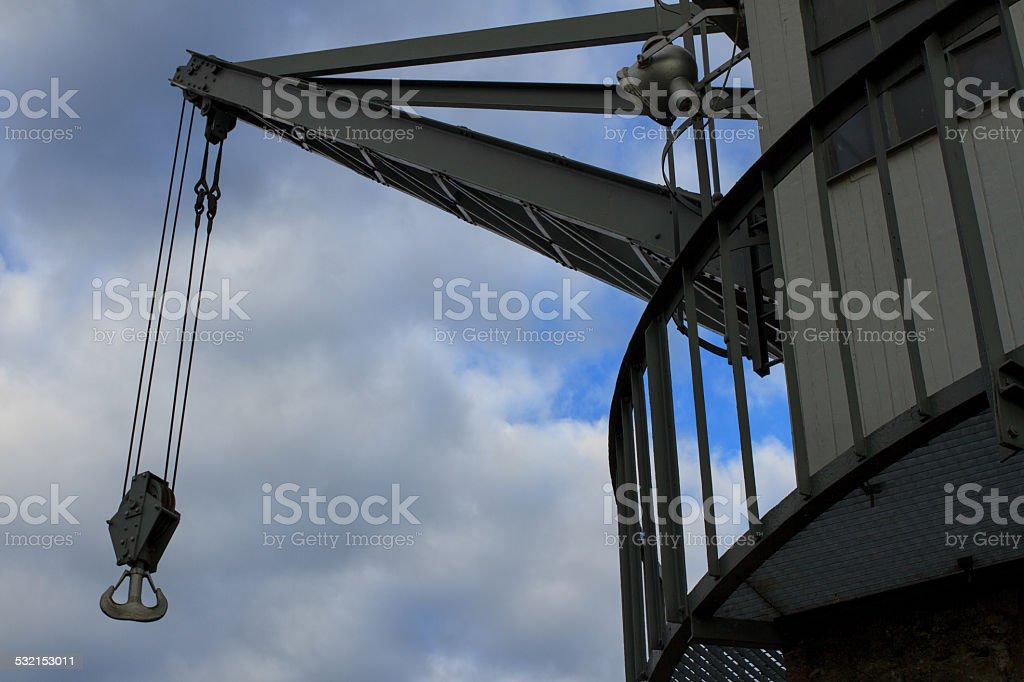 old crane stock photo