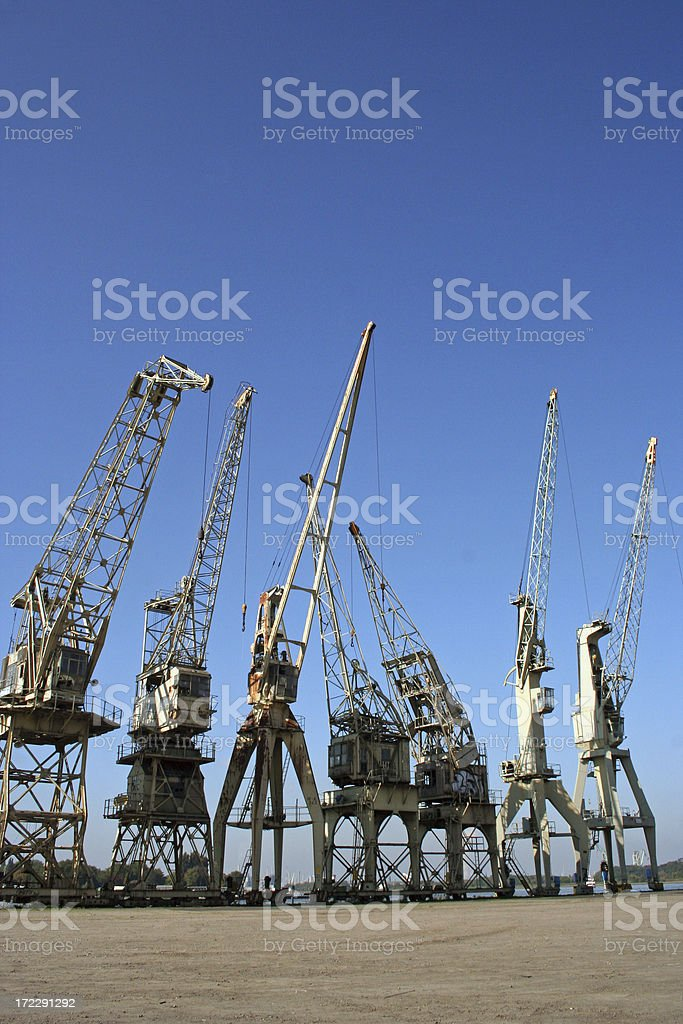 old cranes royalty-free stock photo