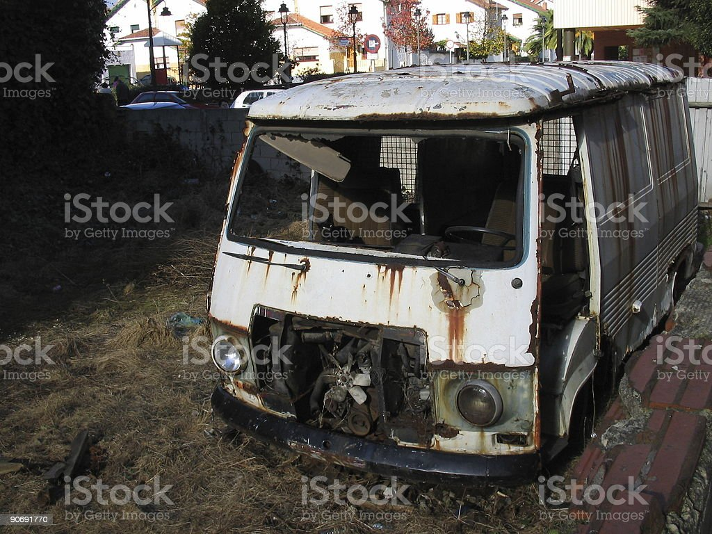 old crash front van royalty-free stock photo