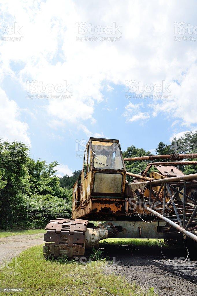 Old Crawler Crane stock photo
