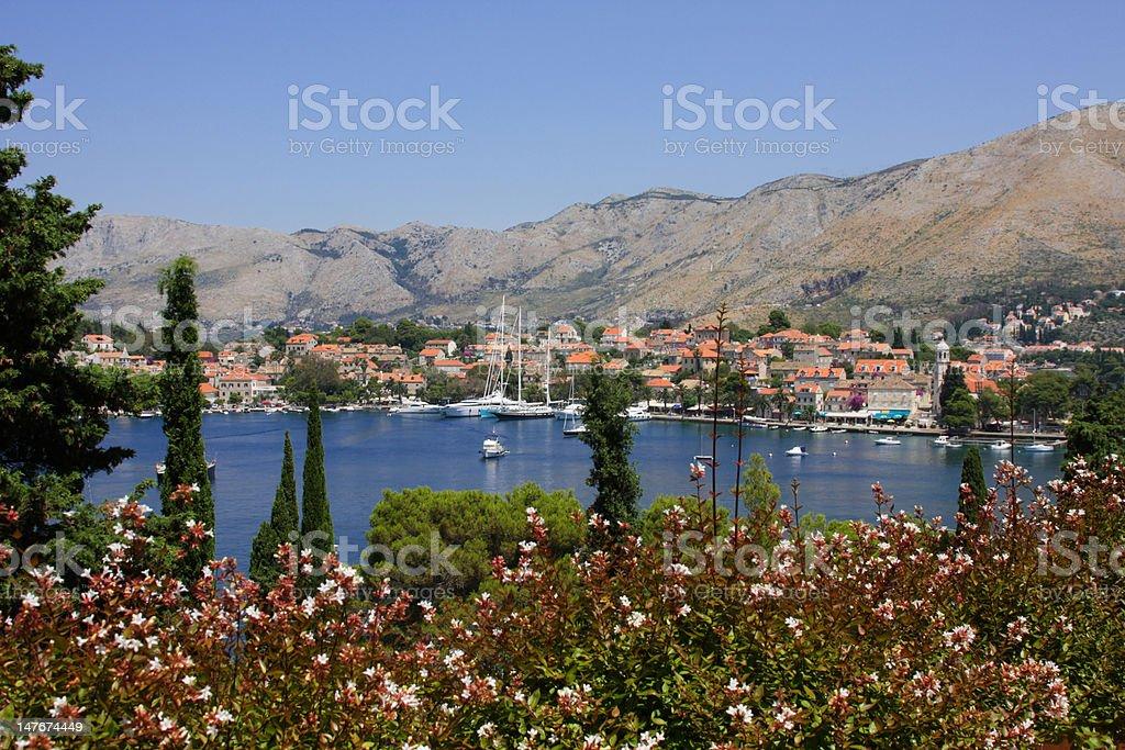 Old croatian town Cavtat stock photo