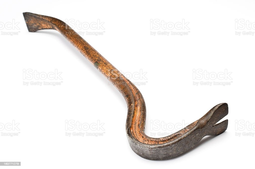 Old crowbar stock photo