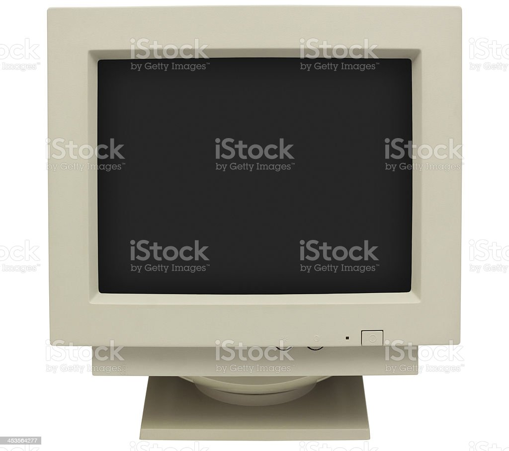 Old CRT Monitor stock photo