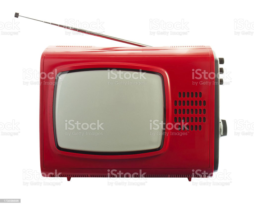 old CRT TV stock photo