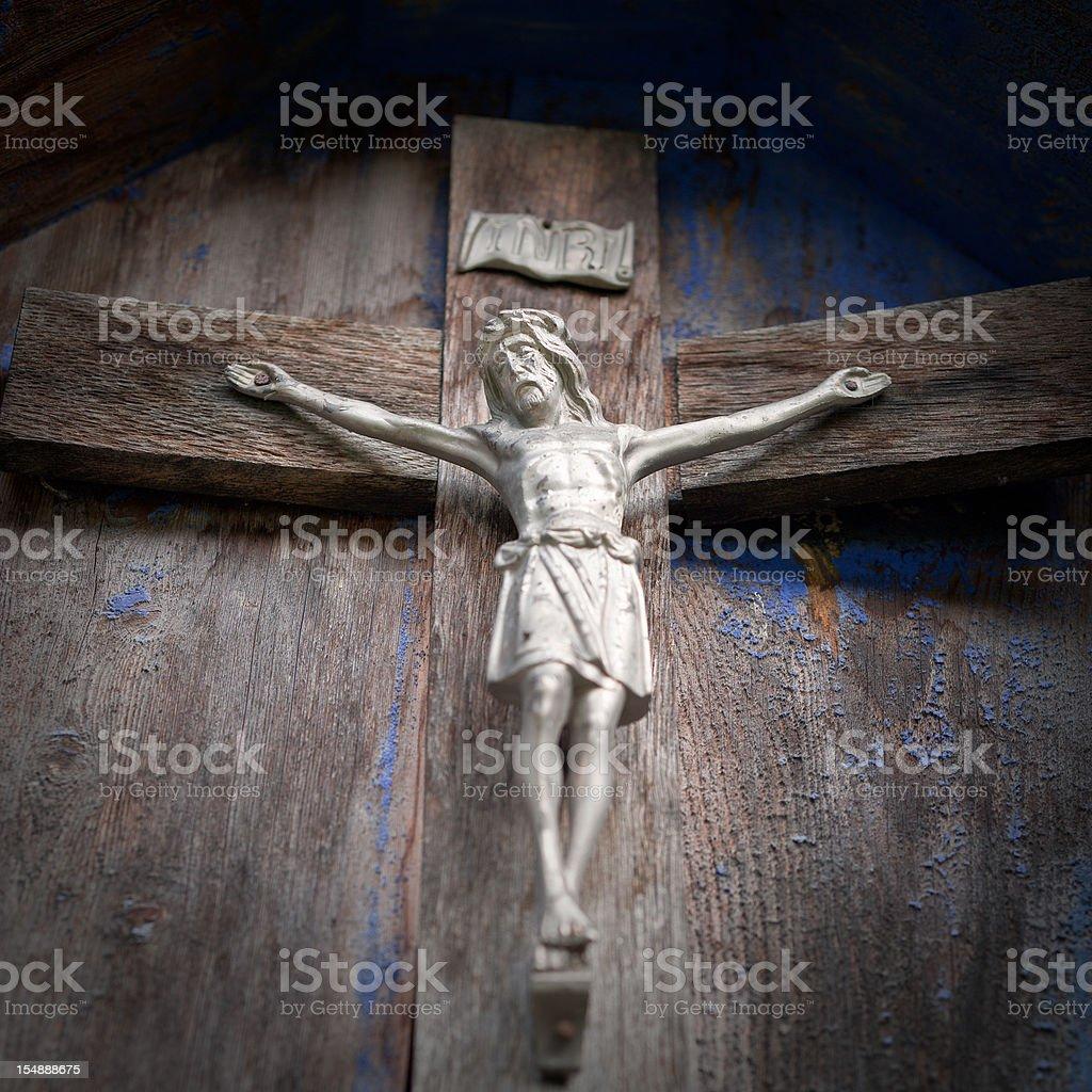 Old Crucifix stock photo
