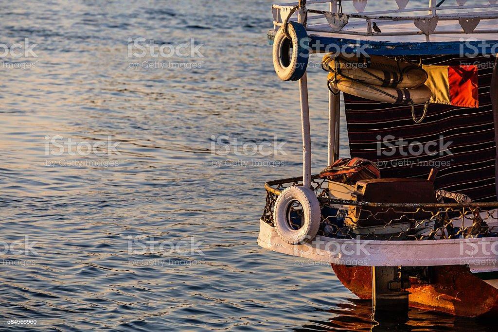 old cruiser boat stock photo