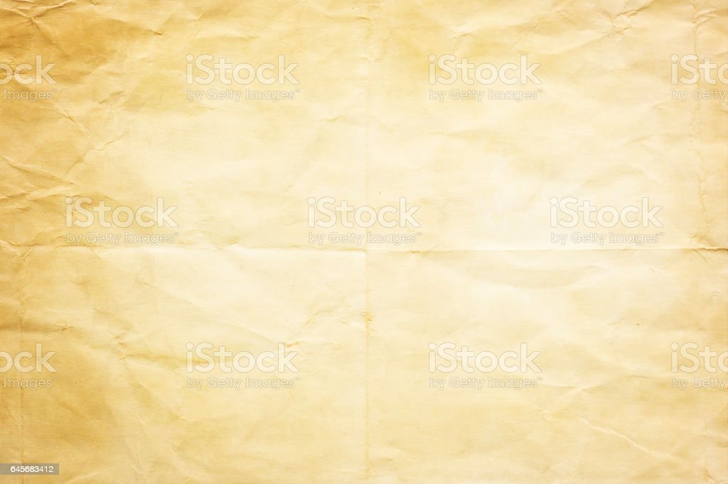 old crumpled paper texture or background stock photo