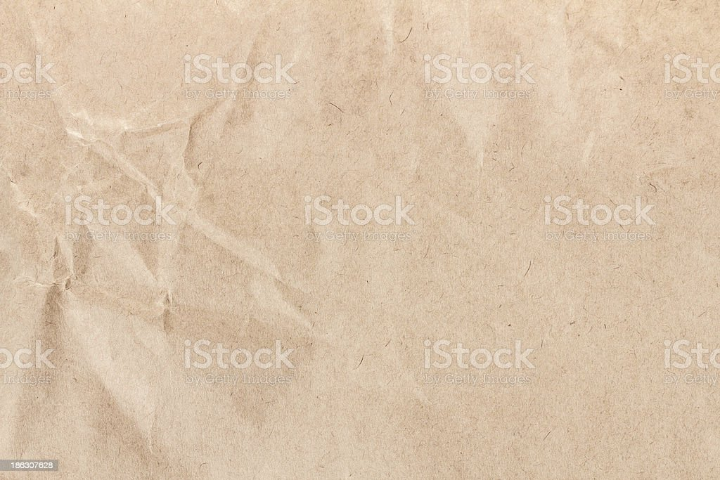 Old Crumpled recycled paper  texture or background. High resolut royalty-free stock photo