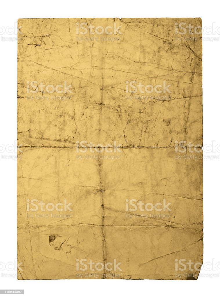old crushed paper sheet royalty-free stock photo