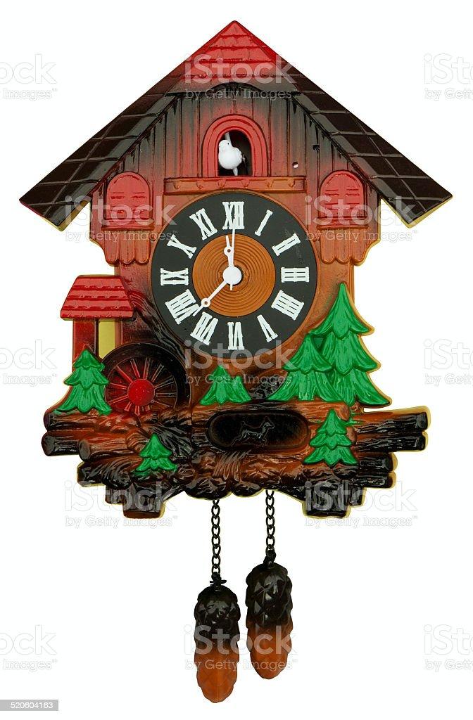 Old cuckoo clock stock photo