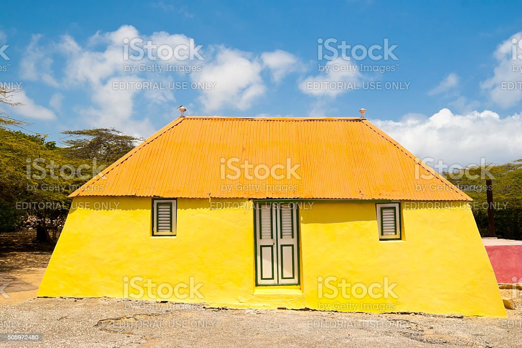 Old Cunucu house in the Caribbean stock photo