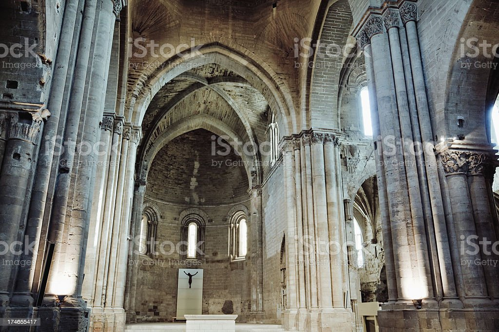 Old Curch / Cathedral Interior stock photo