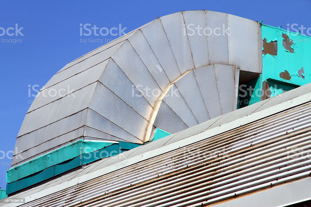 Old Curved Vent stock photo