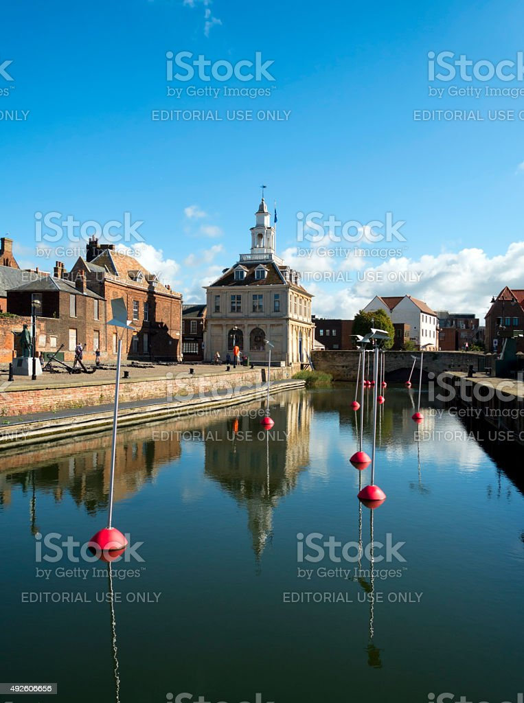 Old Custom House and Purfleet, King's Lynn, Norfolk stock photo