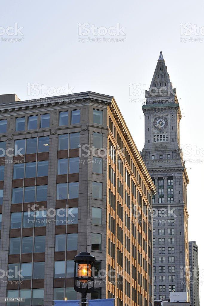 Old Custom House in Boston royalty-free stock photo